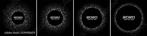 Photo New Year 2020 night background party set