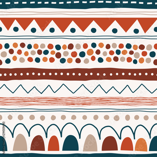 Cuadros en Lienzo Abstract hand drawn creative seamless pattern