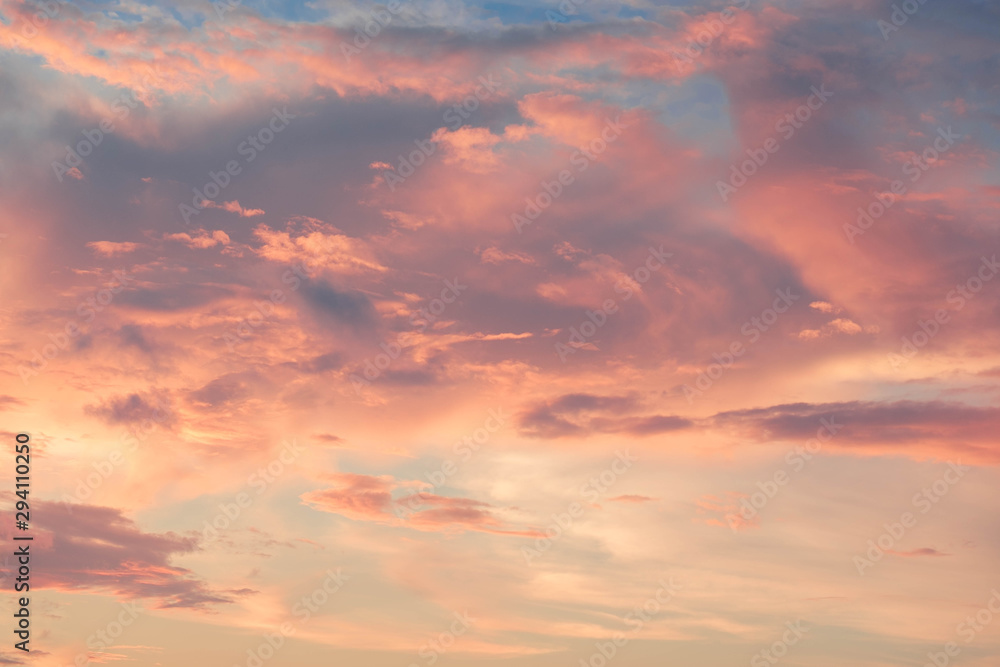 Fototapety, obrazy: beautiful of Stratus cloud in sunset background for forecast and meteorology concept