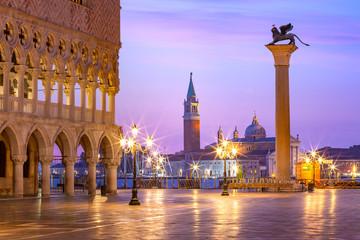 Panel Szklany Miasta San Marco square at sunrise. Venice, Italy