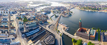 Stockholm, Sweden. Panorama Of...