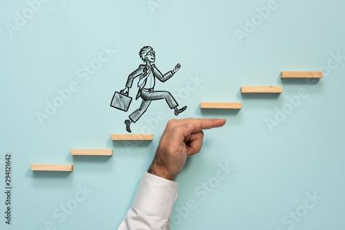 Career Planning and Challenge Concept Fotobehang