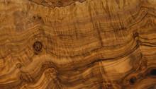 Texture Of Olive Wood Closeup