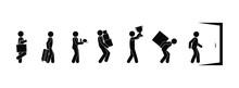 Icons Of People Walking, Isola...