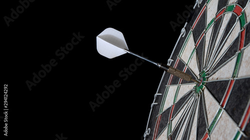 darts throw to the center, hitting the target Canvas Print