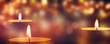 Leinwanddruck Bild - brennende teelichter