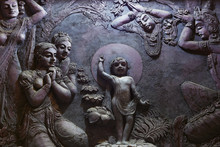 Buddhist Mural In Old Temple. ...