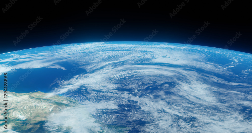 Fototapeta The Earth globe from Space. High Resolution Planet Earth view. 3d realistic render Illustration. Elements of this image are furnished by NASA.