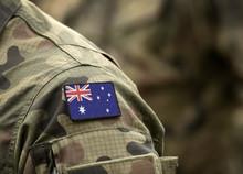 Flag Of Australia On Military ...