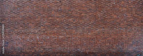 Fototapeta Red brick wall textured photography urban for graphic resource obraz na płótnie