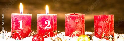 Photographie adventsgesteck, zweiter advent