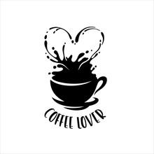 Coffee Lover T-shirt Design. Vector Illustration.
