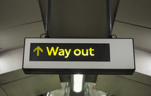 Way Out Exit Sign In London Tube