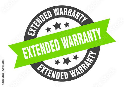 Canvastavla extended warranty sign
