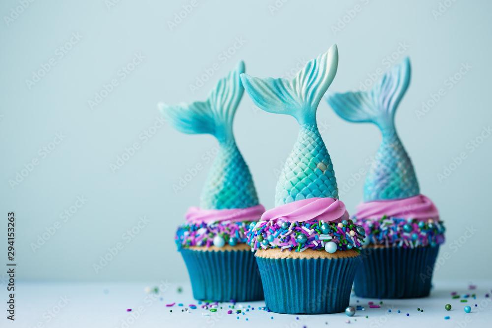 Fototapety, obrazy: Mermaid cupcakes