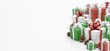 Christmas background with christmas gifts decoration - 3d rendering