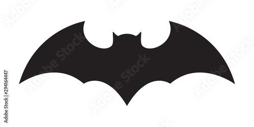 bat vector icon logo Halloween character ghost illustration cartoon symbol graph Fotobehang