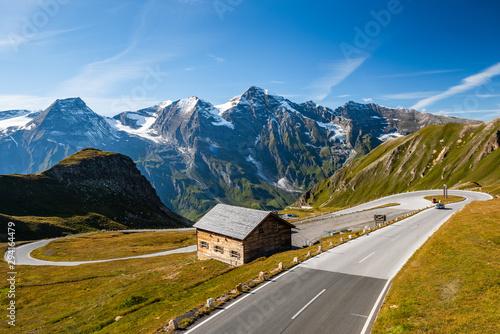 Scenic and Panorami High Alpine Road in Austria Alps Tablou Canvas
