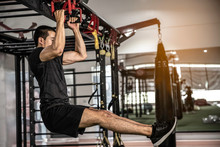 Fitness Man Hanging On Horizon...