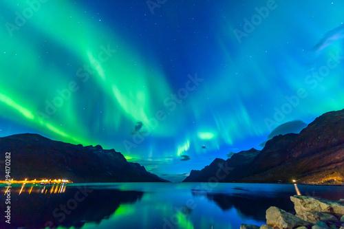 Fényképezés  The polar lights in Norway. Tromso
