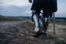 Medieval Knight Legs In Metal ...