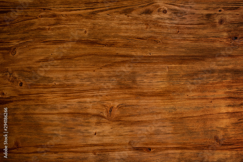 Fényképezés  Dark textured wood background