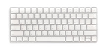 Top View Keyboard Isolated Whi...