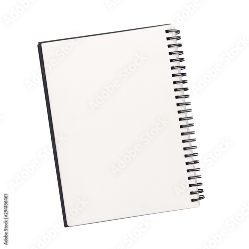 Obraz Top view empty notebook isolated on a white background. with clipping path - fototapety do salonu