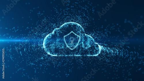 Photo sur Aluminium Pain Cloud computing and cyber security concept.