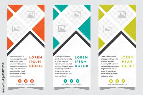 Fotografia, Obraz Set of modern vertical banners