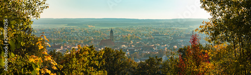 Photo Panoramic view of historic old town Amberg, Germany Bavaria
