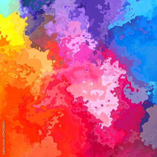 Vászonkép  abstract stained pattern texture square background neon full color spectrum rain