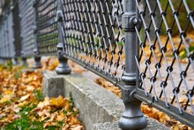 Part Of The Metal Fence In The...
