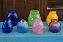 Hand Made Glass Multicolored V...