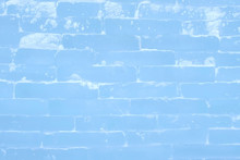 Ice Brick Wall Texture Using As Background, Close-up View