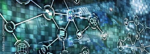 Carta da parati  Information and telecommunication technology concept