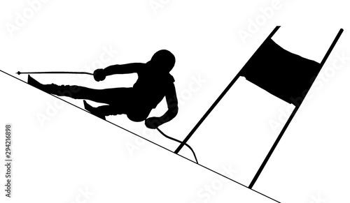 Vászonkép  Skieur alpin
