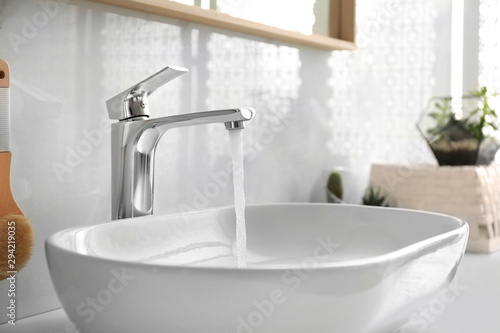 Fotografía  Stylish white sink in modern bathroom interior