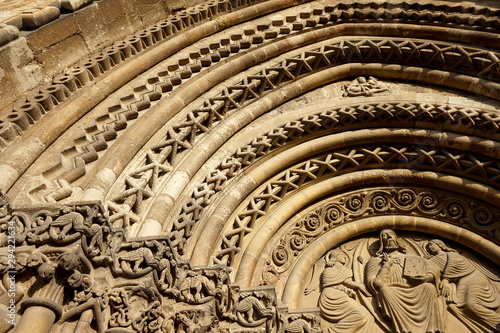 Close up texture of an 800 years old church
