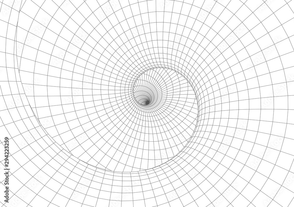 Fototapeta Abstract geometric background. Optical illusion of spiral motion.