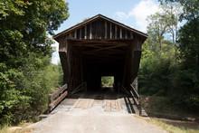 Red Oak Creek Covered Bridge Front Entrance View