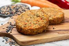 Tasty Vegetarian Lentils Burge...