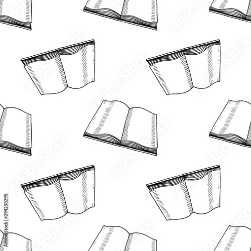 Fototapety, obrazy: Hand Drawn book doodle. Sketch style icon. Decoration element. Isolated on white background. Flat design. Vector illustration