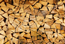 Woodpile In Stack.Triangle Sha...