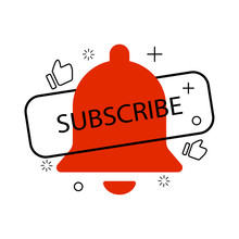 Bell Subscribe Like Icons Modern Liquid Design
