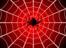 Spider Web. Cobweb Trap, Gossamer Halloween Graphic Silhouette. Spider Man Funny Spooky Party Net Texture, Wallpaper Vector Template