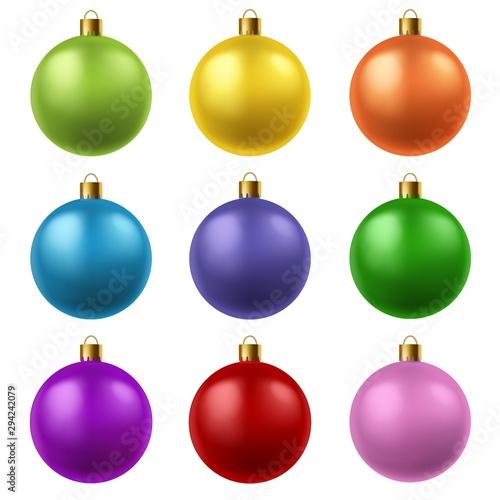 Foto  Realistic christmas balls