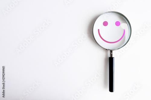 Foto auf AluDibond Indien lente di ingrandimento, psicologia, felicità, personalità, psichiatria