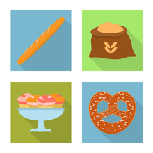 Vector Illustration Of Bakery And Natural Icon. Collection Of Bakery And Business Stock Vector Illustration.