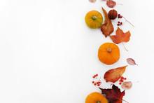 Autumn Composition. Pumpkins, ...